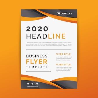 Cartaz abstrato de modelo de negócios