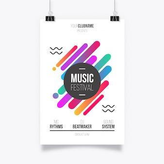 Cartaz abstrato do festival de música