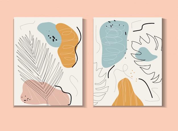Cartaz abstrato em estilo hippie moderno. ilustração