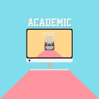 Cartaz acadêmico da escola