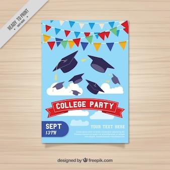 Cartaz agradável para a festa de faculdade