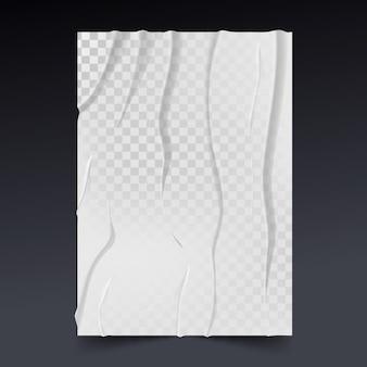 Cartaz amassado realista efeito mal colado