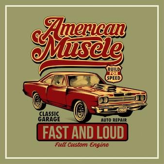 Cartaz americano do músculo