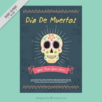 Cartaz bonito para comemorar o dia dos mortos