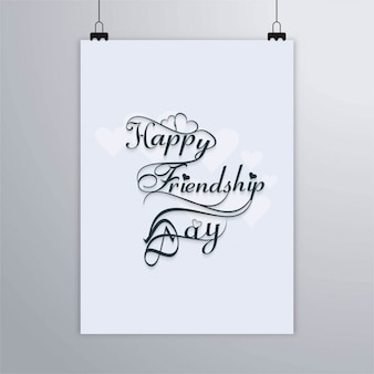 Cartaz branco para o dia amizade
