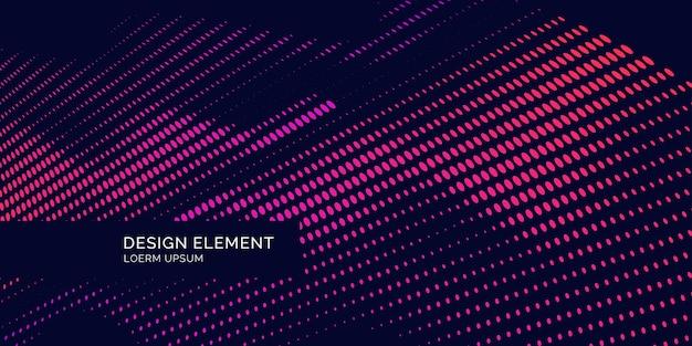 Cartaz brilhante com ondas dinâmicas. ilustração vetorial em estilo plano minimalista
