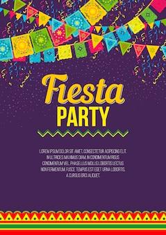 Cartaz brilhante convidando para a festa fiesta