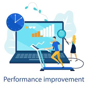 Cartaz brilhante é melhoria de desempenho escrito.