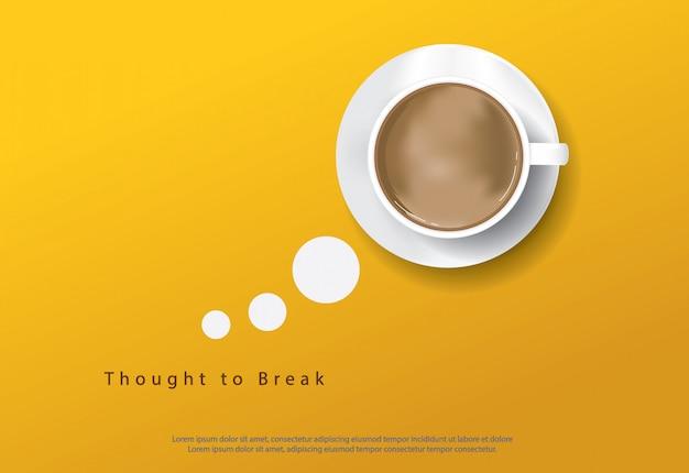 Cartaz café com flayers anúncio ilustração vetorial