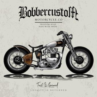 Cartaz clássico da motocicleta do interruptor inversor