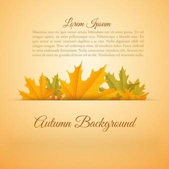 Cartaz colorido abstrato da temporada de outono