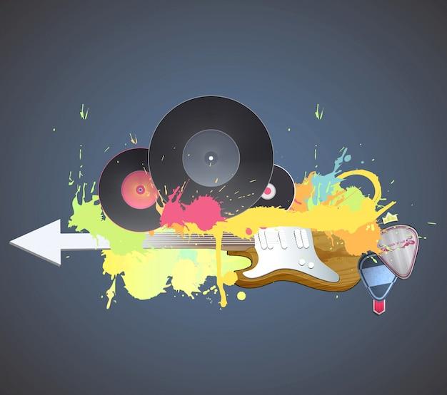 Cartaz colorido da festa da música