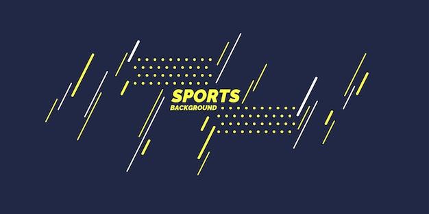 Cartaz colorido moderno para esportes. ilustração vetorial