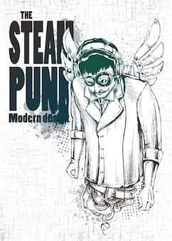 Cartaz com design punk