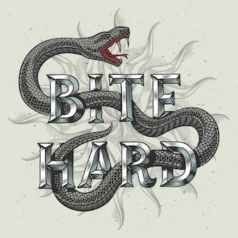 Cartaz com ilustração de cobra