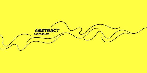 Cartaz com ondas dinâmicas. estilo plano mínimo de ilustração vetorial