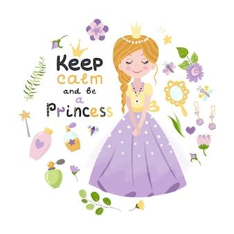 Cartaz com princesa e letras