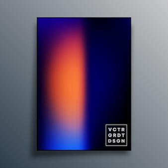 Cartaz com textura gradiente colorida para papel de parede, folheto, capa de brochura, tipografia ou outros produtos de impressão. ilustração