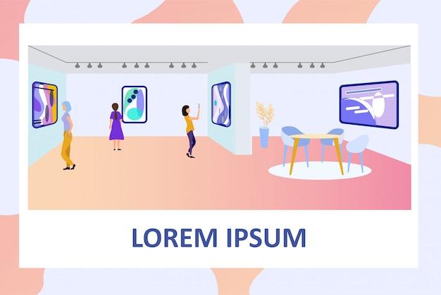 Cartaz convidando a visitar a exposição na galeria de arte