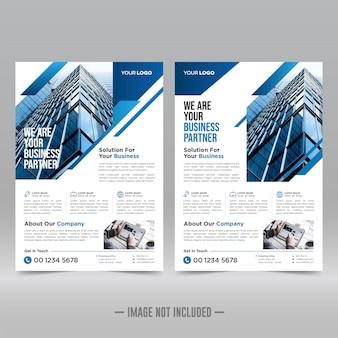 Cartaz corporativo, modelo de folheto