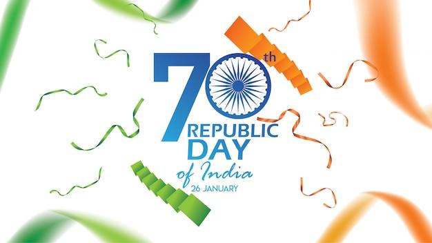 Cartaz criativo, banner ou panfleto para o dia da república da índia