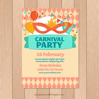 Cartaz criativo do partido de carnaval