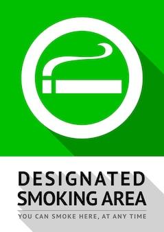Cartaz da área de fumantes