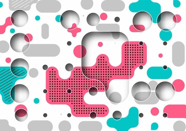 Cartaz da arte do círculo de meio-tom de banner abstrato com espaço de seu texto, ilustração vetorial design.
