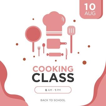 Cartaz da aula de culinária