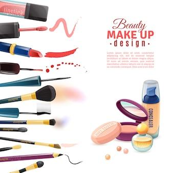 Cartaz da beleza dos cosméticos