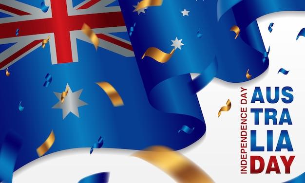 Cartaz da celebração do dia de austrália ou grupo do fundo da bandeira.