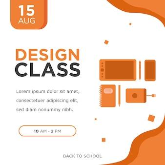 Cartaz da classe do design