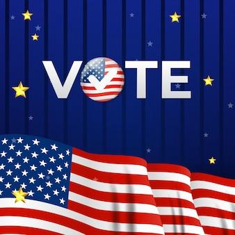 Cartaz da empresa eleitoral dos eua. ilustração vetorial eps10