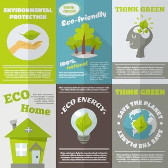 Cartaz da energia de eco
