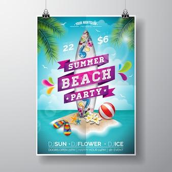 Cartaz da festa da praia de verão