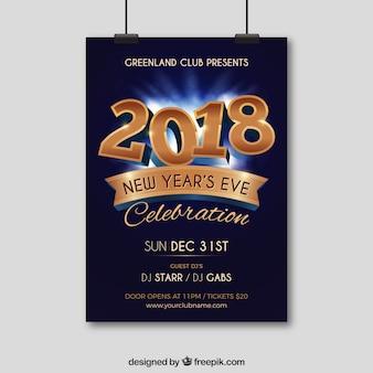 Cartaz da festa de ano novo