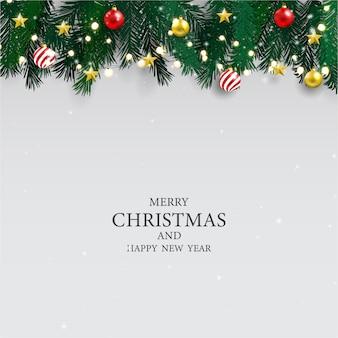 Cartaz da festa de natal e fundo do ano novo feliz.