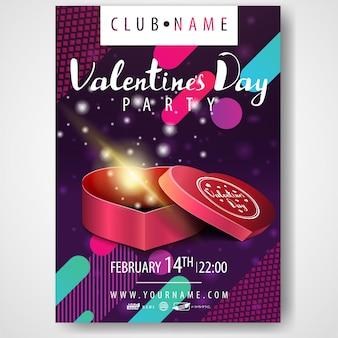 Cartaz da festa do dia dos namorados
