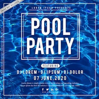 Cartaz da festa na piscina de verão