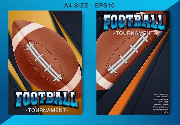 Cartaz da liga de futebol americano