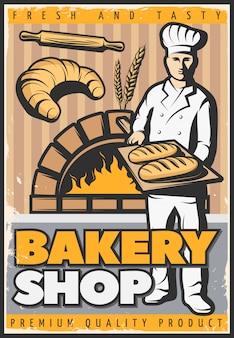 Cartaz da loja de padaria