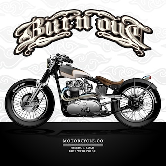 Cartaz da motocicleta do interruptor inversor da