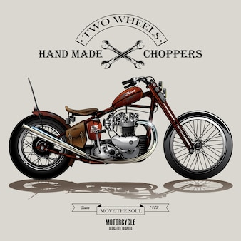 Cartaz da motocicleta do interruptor inversor do vintage