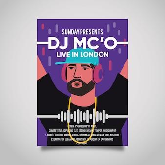 Cartaz da música com dj
