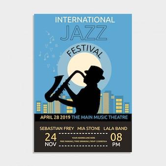 Cartaz da música de jazz