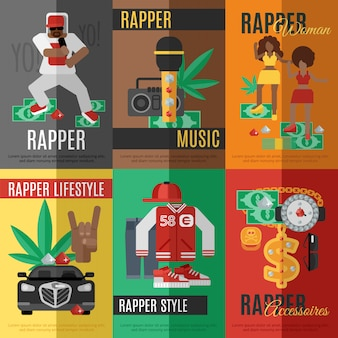 Cartaz da música de rap