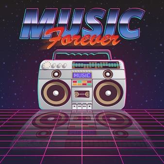 Cartaz da música para sempre