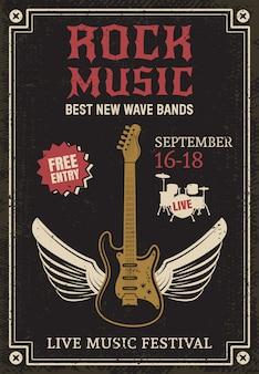 Cartaz da música rock