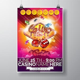 Cartaz da noite do casino