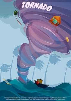 Cartaz da paisagem do beira-mar